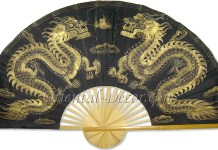 Chinese Wall Fans Golden Dragons