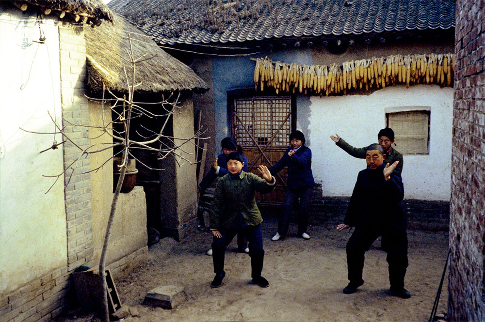1970s. Chenjiagou, the Chen Family Village, Jiaozuo, in Henan. Here, the inhabitants of the village traditionally practiced a particular form of martial arts, called Chenjiagou Taijiquan.