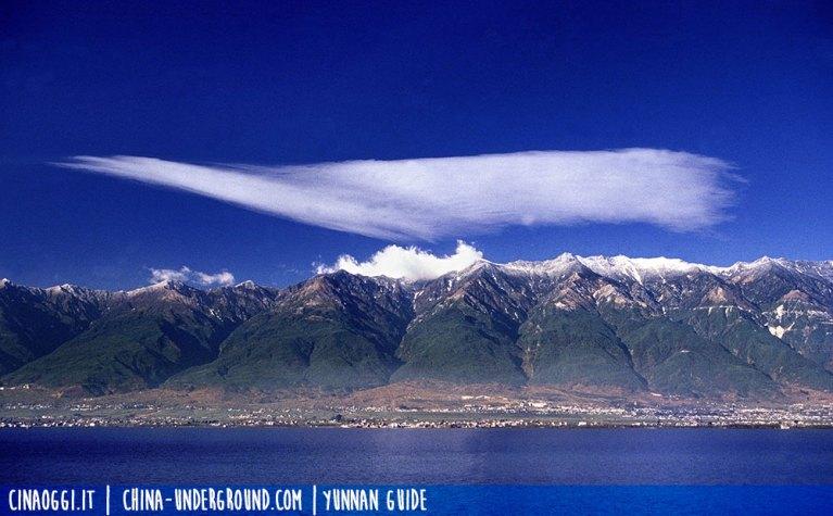 Dali Cangshan mountain and Erhai lake