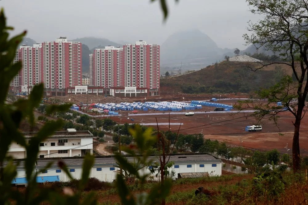 Chinese disaster relief tents
