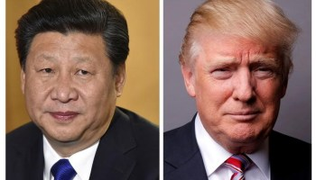 FILE PHOTO: Combination of file photos of showing Chinese President Xi Jinping and U.S. President Donald Trump