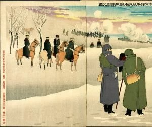 Illustration of Photographing Our Troops Fighting in the Fortress Town Niuzhuang
