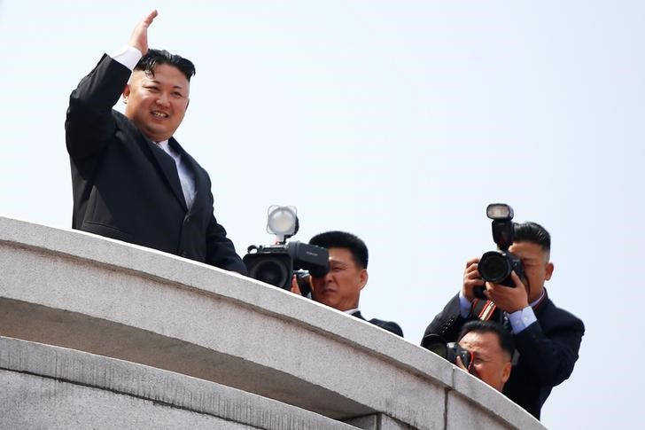 A Picture and its Story: North Korea on parade - preemptive strike