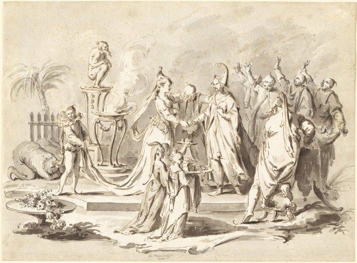 The Marriage of Europe and China - Pietro Antonio Novelli