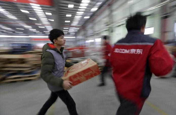 JD.com logistic centre in Langfang