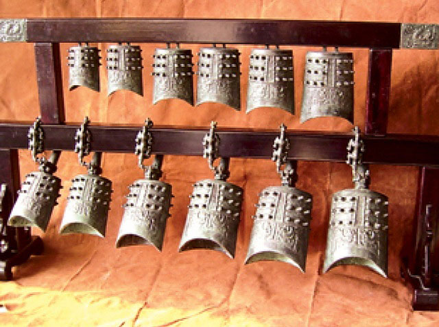 The ancient Ailao Serial Bells of Baoshan