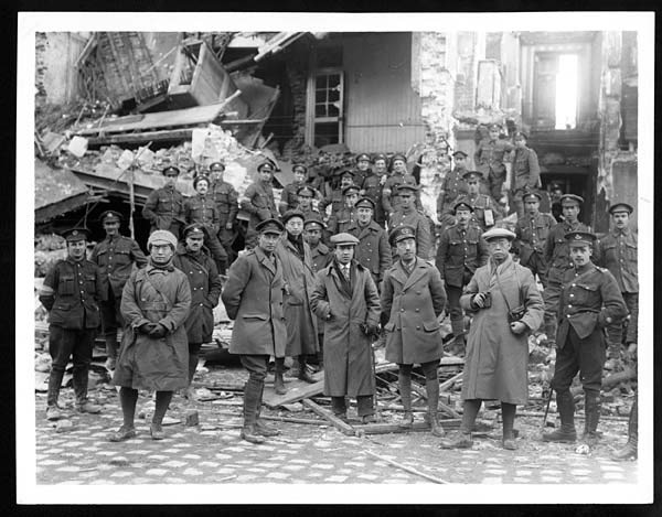 Chinese students on a visit to the British Western Front