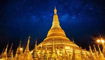 The Giant Golden Pagoda of Jiele