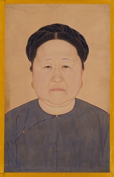Portrait of Dowager Empress Xiaozhuangwen in Informal Clothing
