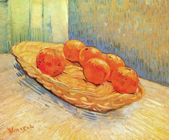 Vincent Van Gogh. Still Life with Basket and Six Oranges