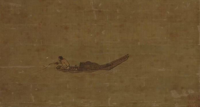 Angler on a Wintry Lake, by Ma Yuan, 1195