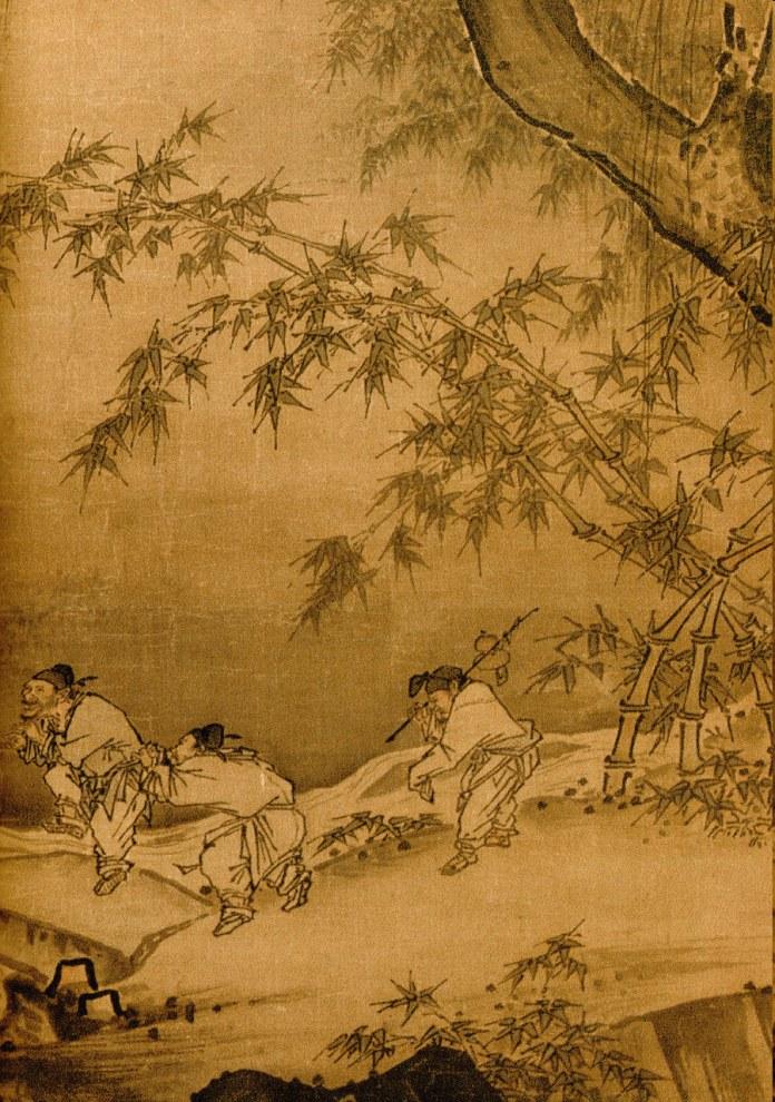 Ma Yuan - Dancing and Singing- Peasants Returning from Work - Detail 3