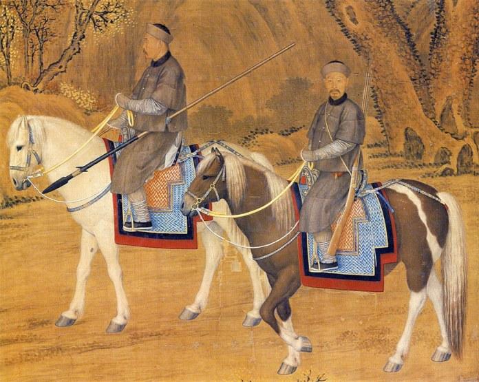 Portrait of the Emperor Troating for Deer - detail