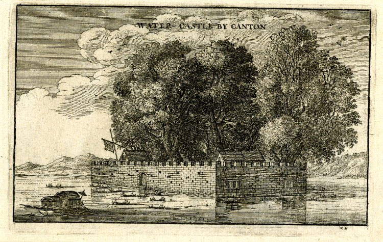 View of a castle on a lake