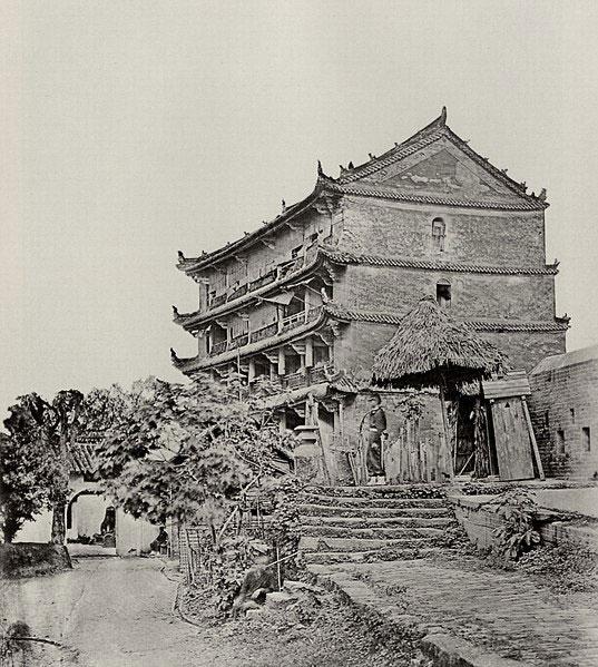 Five-storey-building,-canton
