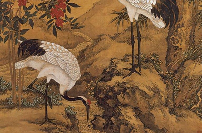 Pine-Plum-and-Cranes