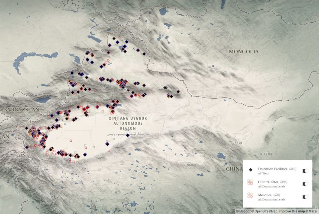 Study finds China has built 380 internment camps in Xinjiang