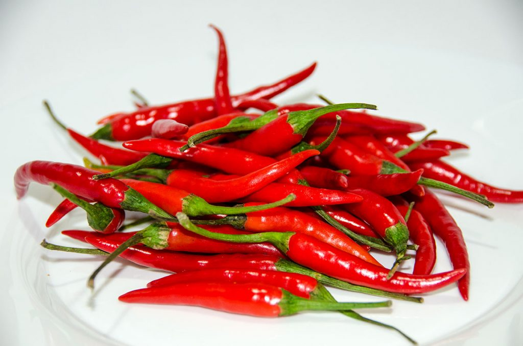 Hot chilies pepper
