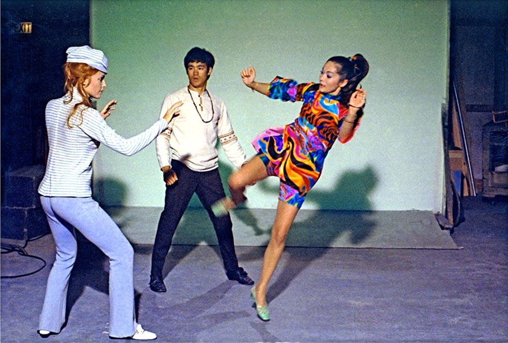 Nancy Kwan and Bruce Lee