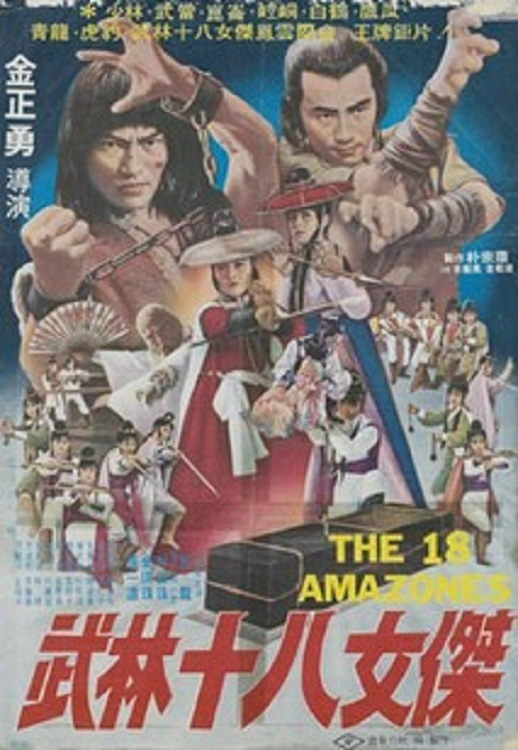 """Poster for the movie """"The 18 Amazones"""""""