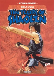 """Poster for the movie """"Ten Tigers of Shaolin"""""""