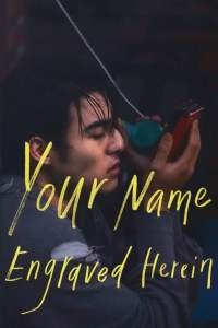"""Poster for the movie """"Your Name Engraved Herein"""""""