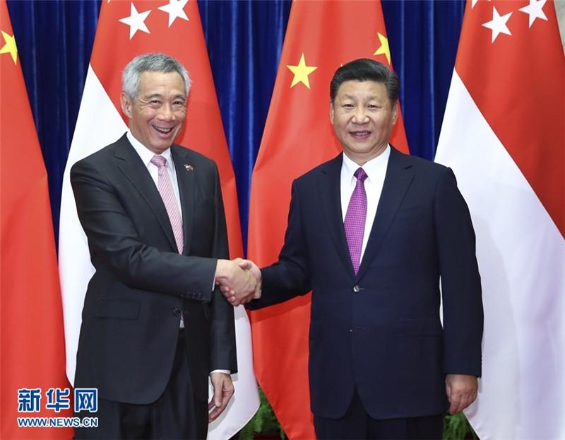 習近平會見新加坡總理_央廣網