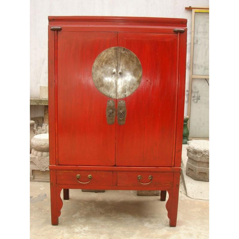 armoire de mariage chinoise rouge 106cm