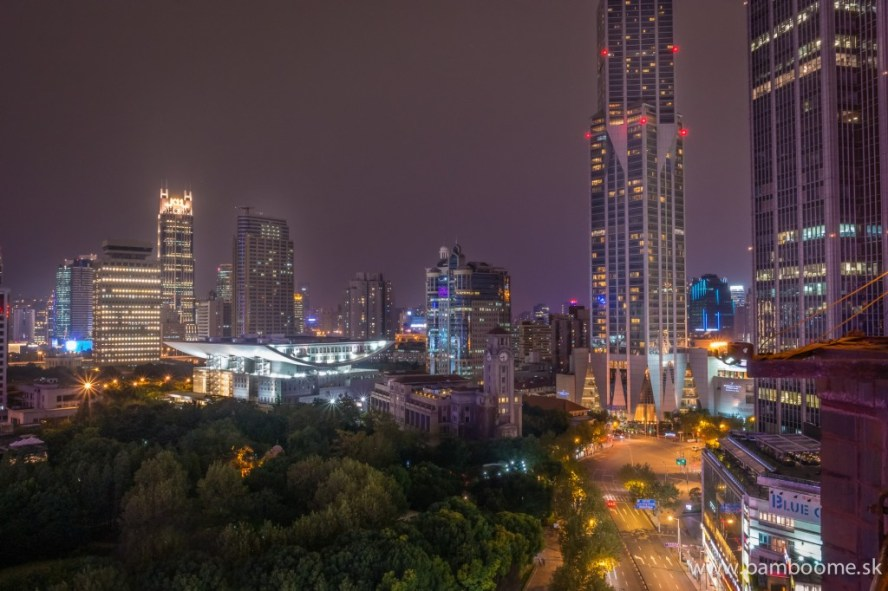 View from hotel over the Lujiazui district in Shanghai
