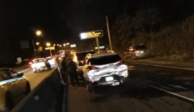美洲大桥发生七车连环相撞事故