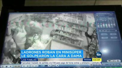 Las Tablas市一伙食铺被三名持枪匪徒行劫