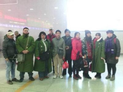 Activists heading to Qufu. Photo posted on Twitter.