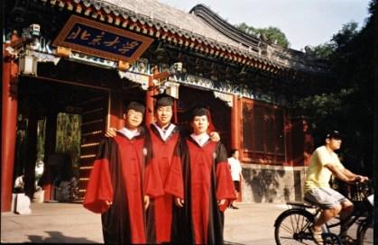 From left, Teng Biao, Yu Jiang, and Xu Zhiyong.