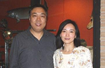 Yu Shiwen (left) and Chen Wei.
