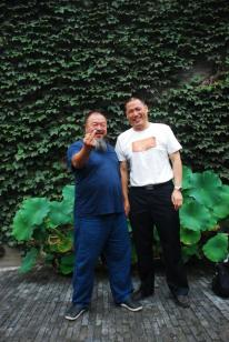 Pu Zhiqiang (right) and Ai Weiwei