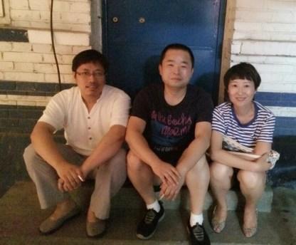 Left to right: Guo Yushan (郭玉闪), Murong Xuecun (慕容雪村), and Liang Xiaoyan (梁晓燕).
