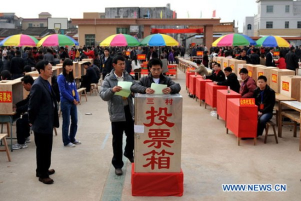 Wukan elections, February 2012. Photo: Xinhua