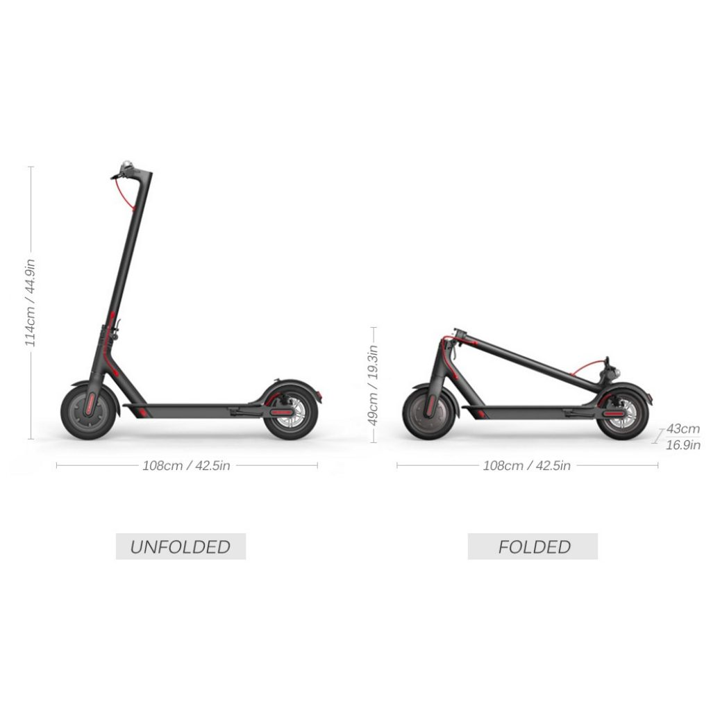 374 With Coupon For Xiaomi M365 Folding Two Wheels