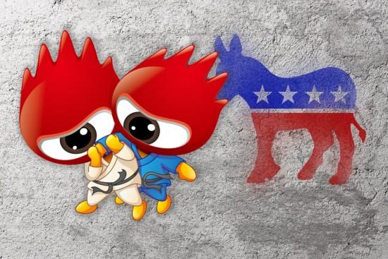 新浪微博与美国大选。图:端传媒设计组