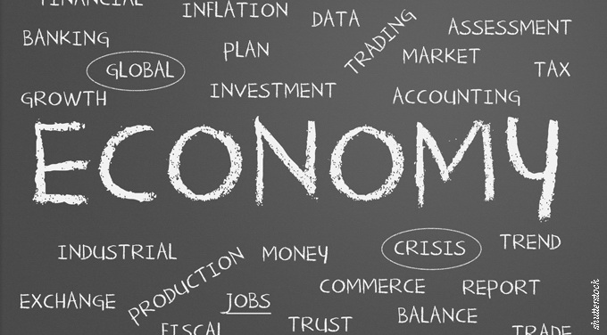 economy vector blackboard