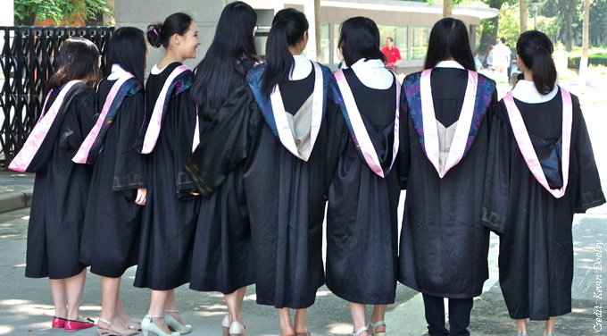 female chinese university graduation_0