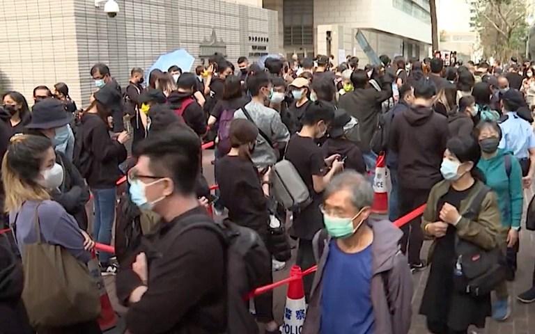 Hundreds of protestors rally around the 'Hong Kong 47'