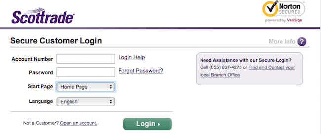 scottrade login