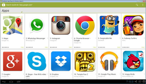 Google Play Store on PC