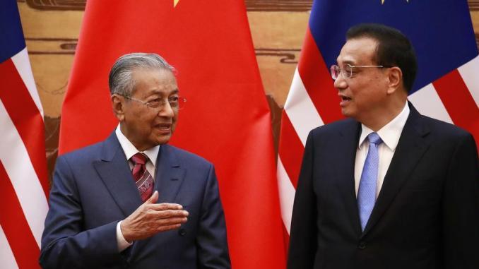 Mahathir-Mohamad-Li-Keqiang