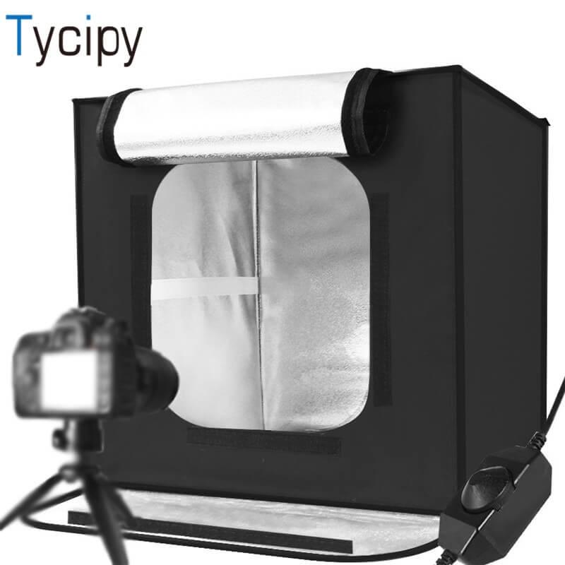 Tycipy Foldable Light Box Mini LED Photo Studio