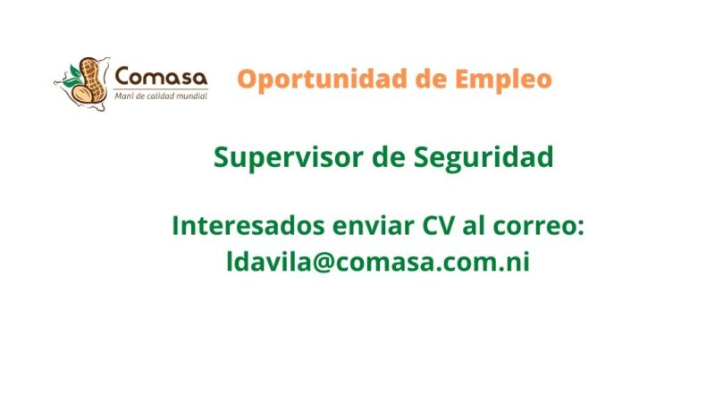 Supervisor de Seguridad – COMASA