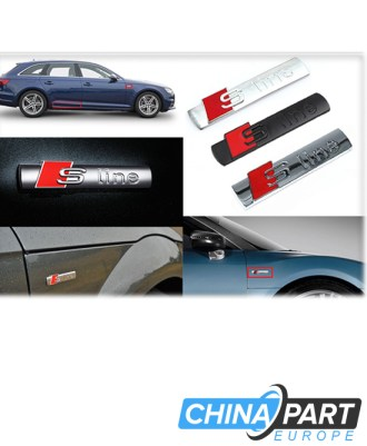 Audi S Line emblema ženkliukas silver (matinis)