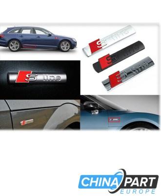 Audi S Line emblema ženkliukas Black
