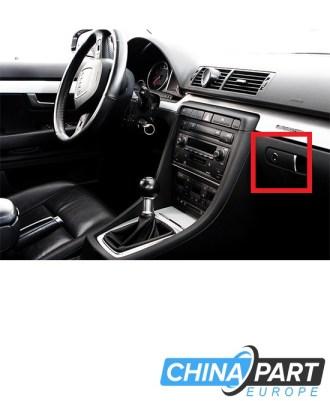 Audi A4 B6 B7 Daiktadežės rankenėlė (Juoda) (Su skyle)